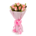 6 Pink Rose Bunch