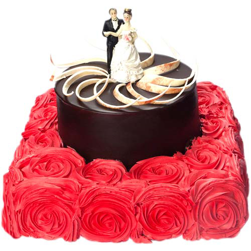 Adorable Rose Bed Cake