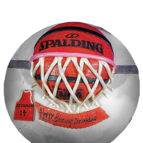 Basket Ball Theme Cake