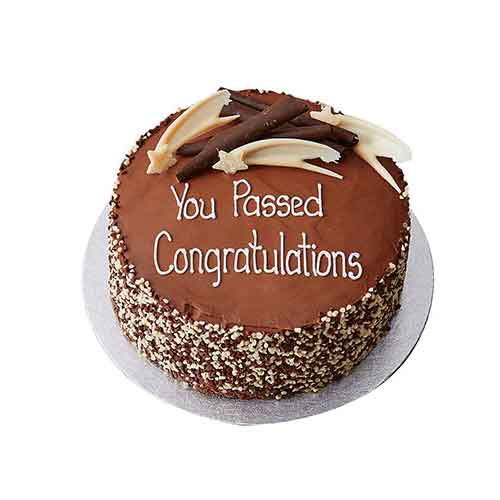 Congratulations Cream Chocolate Cake