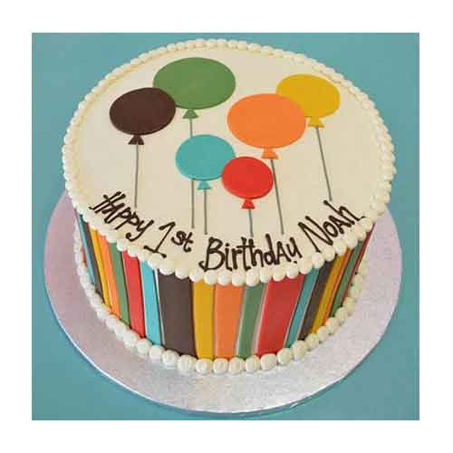 Shades Of Balloons Cake
