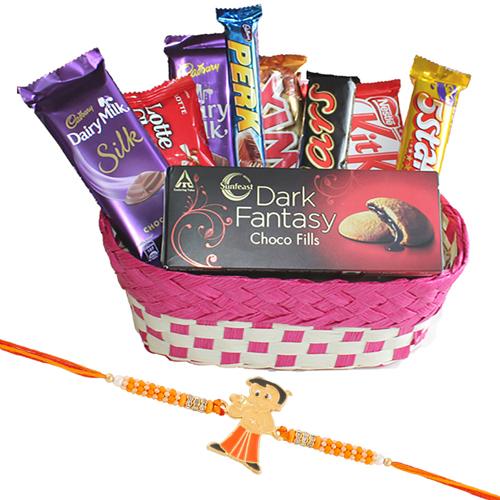 Chota Bheem Kids Rakhi Delicious Chocolate Hamper