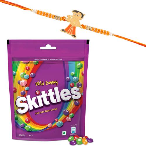 Chota Bheem Kids Rakhi Skittles Wild Berry