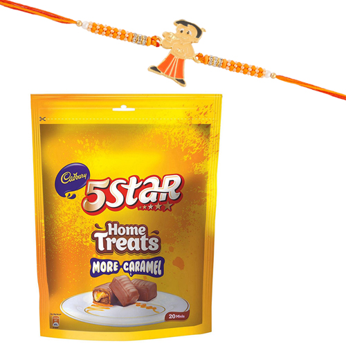 Chota Bheem Kids Rakhi 5 Star Home Treat Pack